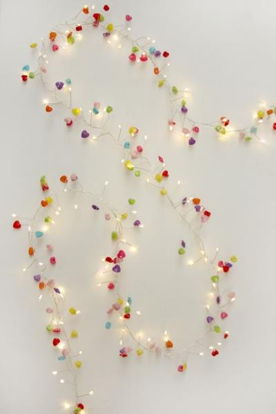 Hearts - 144 LED Indoor Light Chain With Transformer - Mains Powered