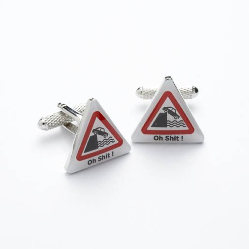 Novelty Cufflinks - Road Sign - CK192 - Onyx Art