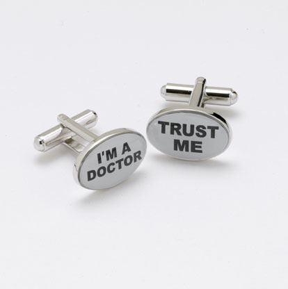 Novelty Cufflinks - Trust Me, I'm A Doctor - CK49 - Onyx Art