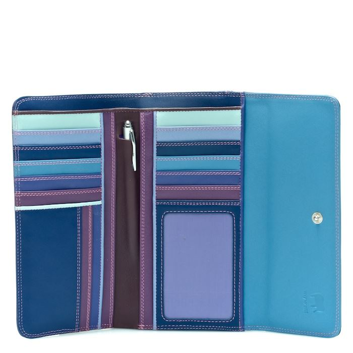 Leather Tri-Fold Wallet With Outer Zip Purse 269 - MyWalit - Sweet Violet
