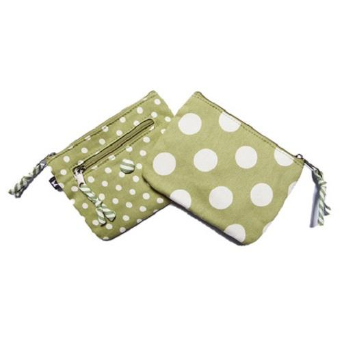 Earth Squared - Emily Purse - Spotty -  Mint Green - 14x11cms