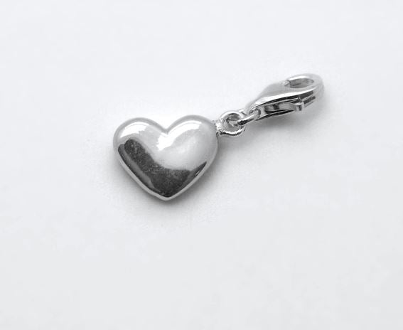 Sterling Silver Charm - Tales From The Earth - Heart - Presented In Pale Blue Gift Box