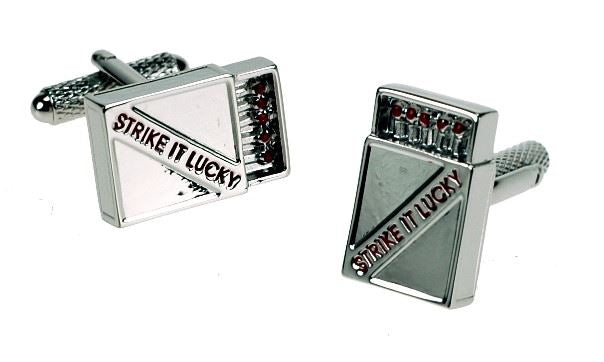 Novelty Cufflinks - Strike It Lucky - CK301 - Onyx Art