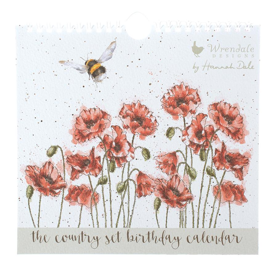 The Country Set - Perpetual Wall Calendar For Birthdays & Anniversaries - Wrendale Designs