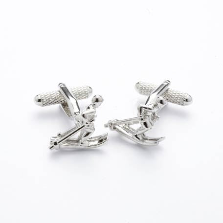 Novelty Cufflinks - Skier - CK173 - Onyx Art