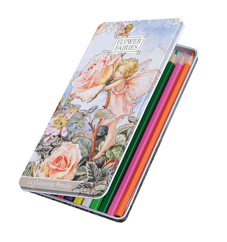 Flower Fairies - Tin of Colouring Pencils - Set of 12