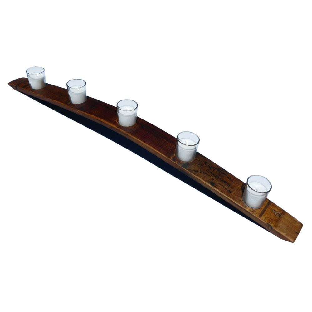 Provence Platters - Reclaimed Francois Frères Wine Cask Stave Candle Bridge/Votive Holder