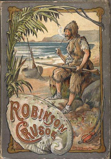 British Library eReader Case - Available in 2 Sizes To Fit all Tablets - Robinson Crusoe