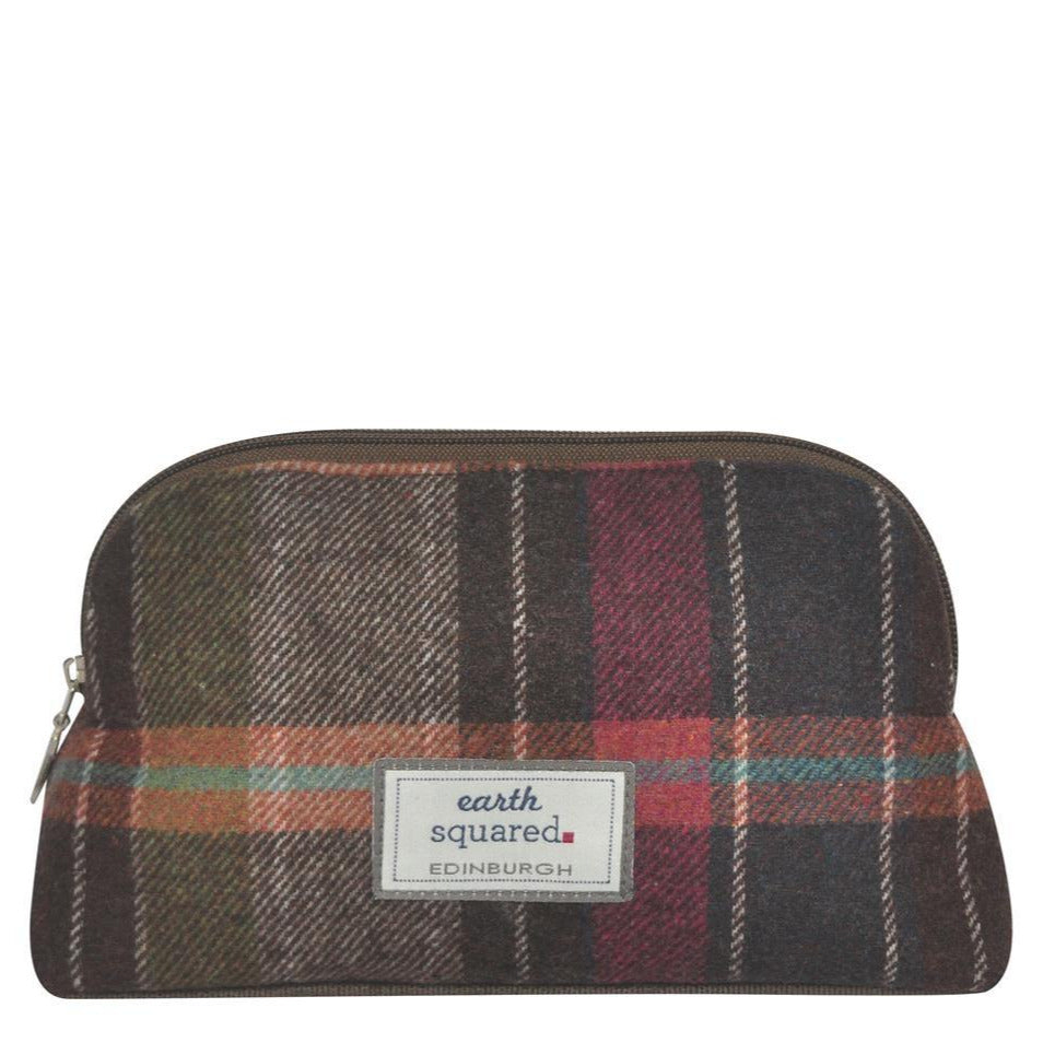 Earth Squared - Make-Up Bag - Tweed Wool - Pewter - 23x13x8cms