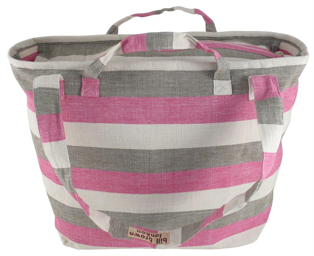 Bill Brown Bags - Mango - Weekend Bag/Cabin Luggage - Pink, Brown & Cream BB91 - 60x39x18cms