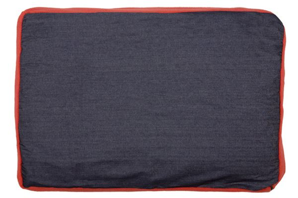 Creature Clothes - Dog Bed Cover - Denim/Red Fleece - Handmade in the UK - 55x80x10cms Fits A Folded Single Duvet