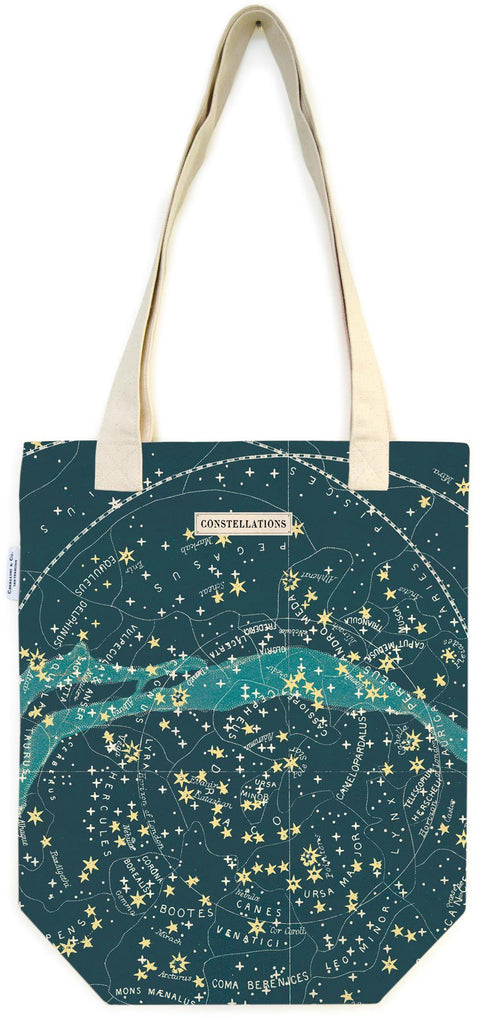 Cavallini - 100% Natural Cotton Vintage Tote Bag - 33x40.5cms - Celestial