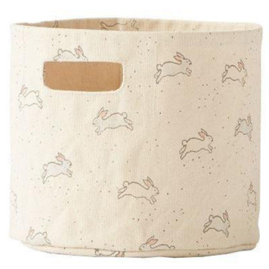 Petit Pehr Nursery Storage - 100% Heavyweight Cotton - Mini - Tiny Bunnies 8 x 7ins