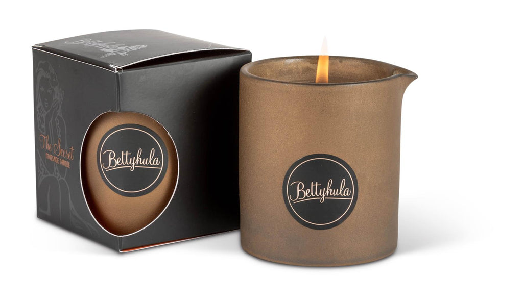 Bettyhula - The Secret Oil Massage Candle 250g - Vegan Friendly/Perfect for All Skin Types