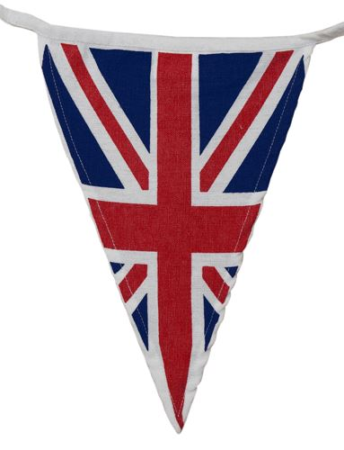 100% Cotton Bunting - Vintage Union Jack - 10m/33 Flags