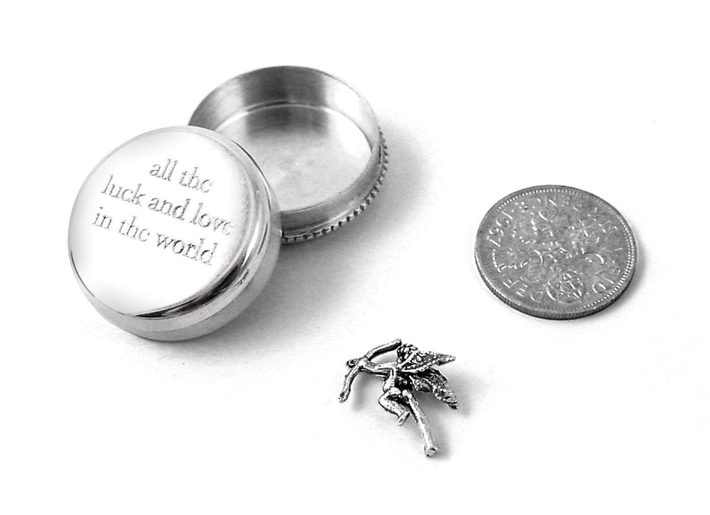 Sterling Silver - All The Love & Luck In The World - Tales From The Earth - Presented In Pale Blue Gift Box - Perfect Christening/Naming Day Gift