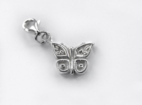 Sterling Silver Charm - Tales From The Earth - Butterfly - Presented In Pale Blue Gift Box