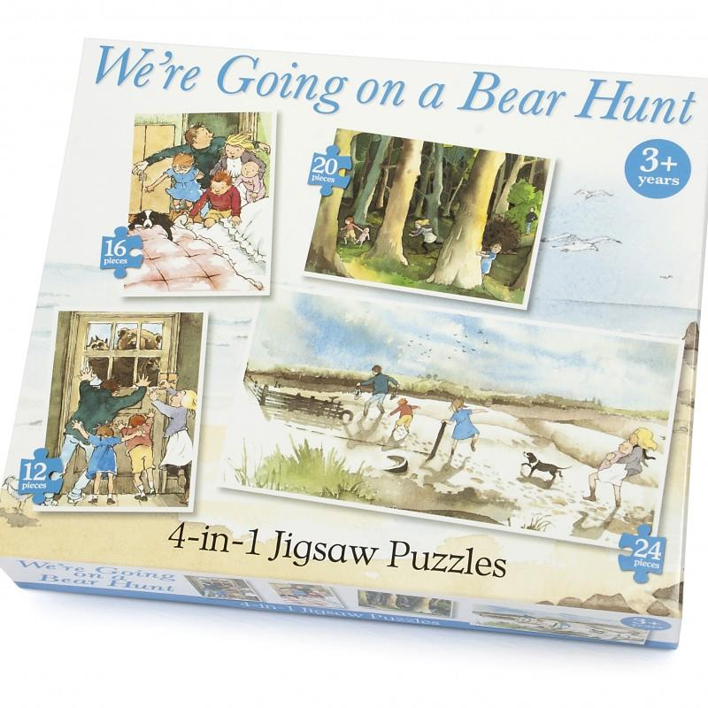 4-in-1 Jigsaw Puzzles - We're Going On A Bear Hunt - Michael Rosen & Helen Oxenbury