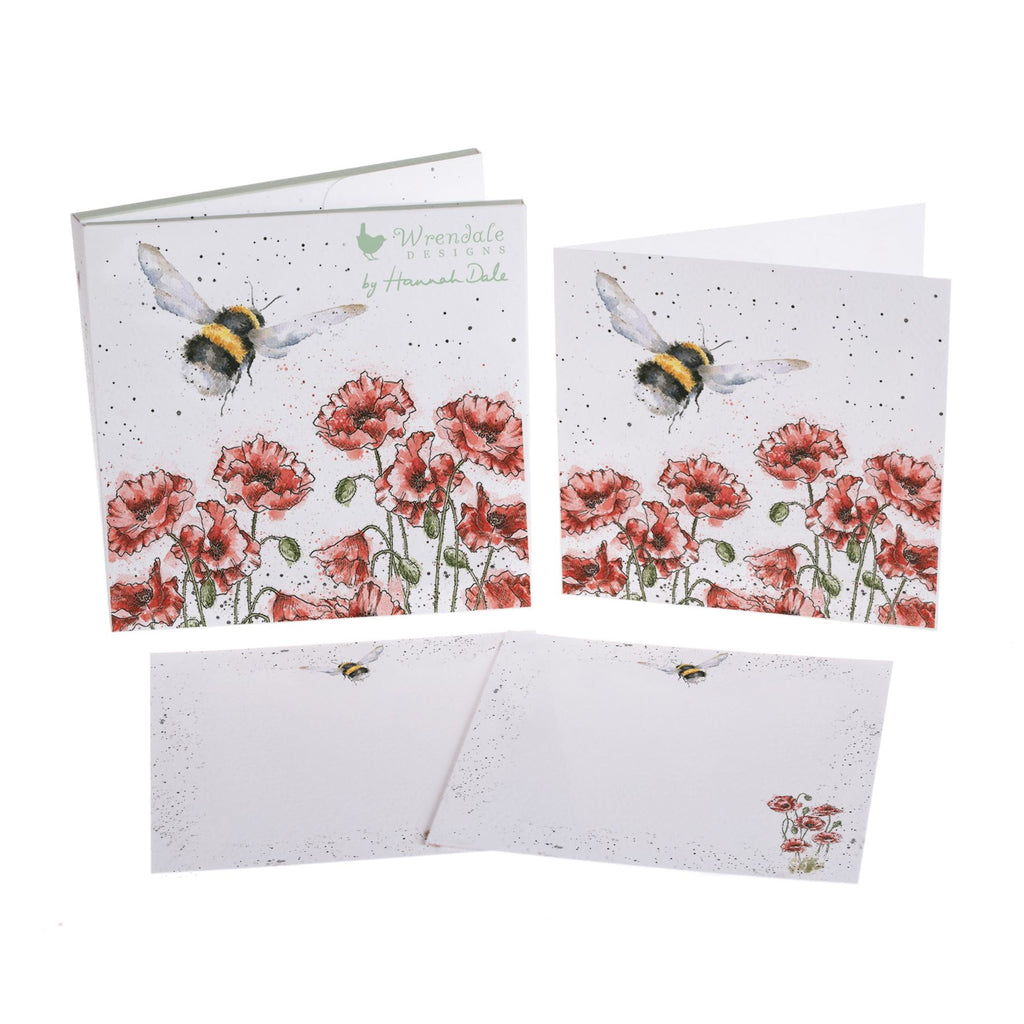 Flight Of The Bumblebee - 4 Notecards/8 Correspondence Cards/12 Envelopes - Wrendale