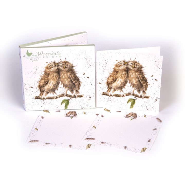 Owl - Notecard Pack - 4 Notecards/8 Correspondence Cards/12 Envelopes - Wrendale Designs