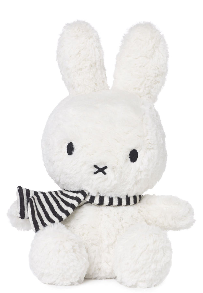 Nijntje - Miffy - Bon Ton Toys - Winter White Sitting Miffy With Scarf - 24cm - Suitable From Birth