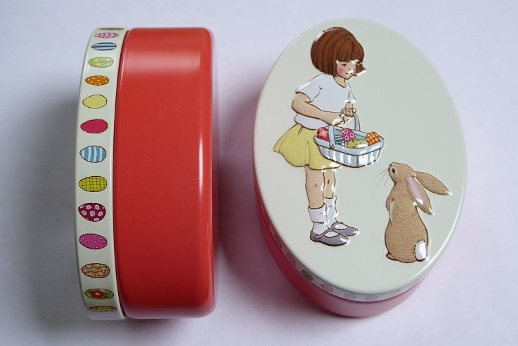 Belle & Boo - Embossed Oval Trinket/Treat Tin - 4 Designs To Choose From - Perfect Stocking Filler