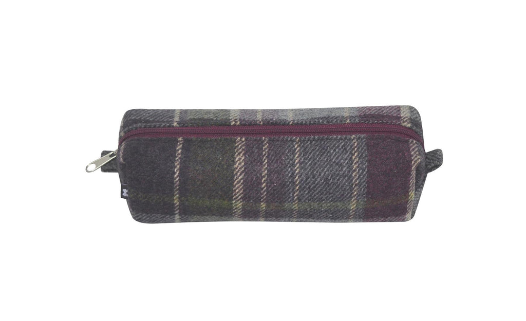 Earth Squared - Pencil/Make Up Brush Case - Tweed Wool - Purple Quartz - 18x6x6cms