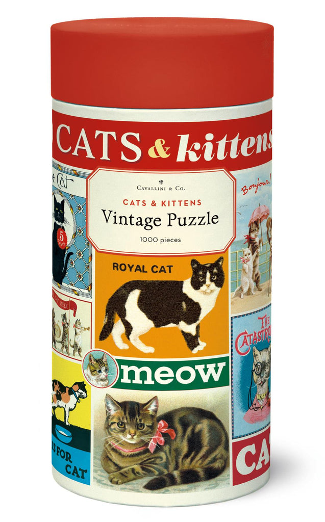 Cavallini - Vintage Jigsaw Puzzle - 1000 Pieces - 55x70cms - Cats & Kittens