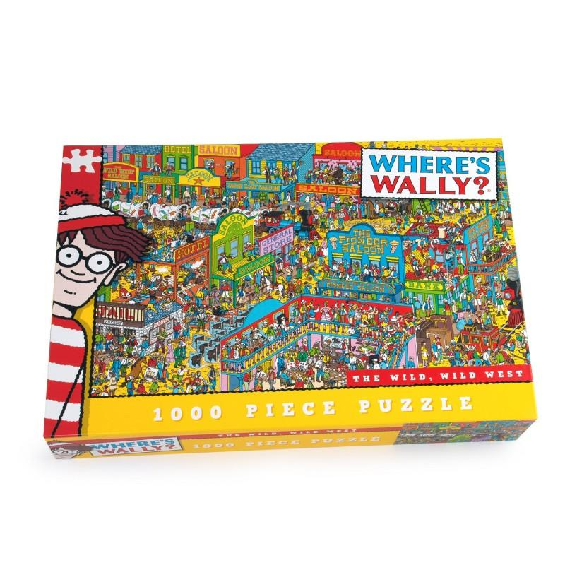 Where's Wally - 1000 Piece Jigsaw Puzzle - The Wild, Wild West