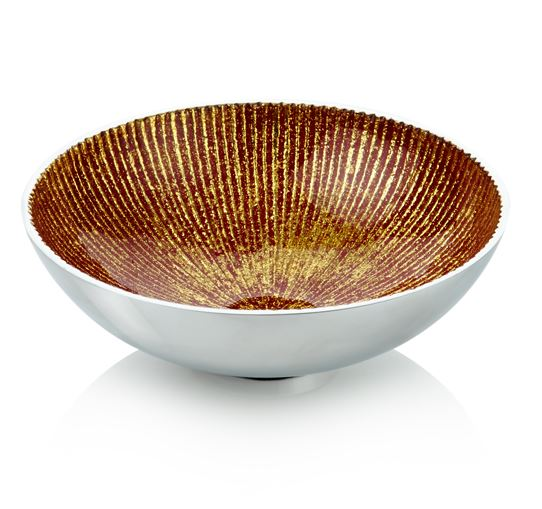 Roberts & Dore - Round Nut/Olive Bowl - Red/Gold - 15cm - Gift Boxed