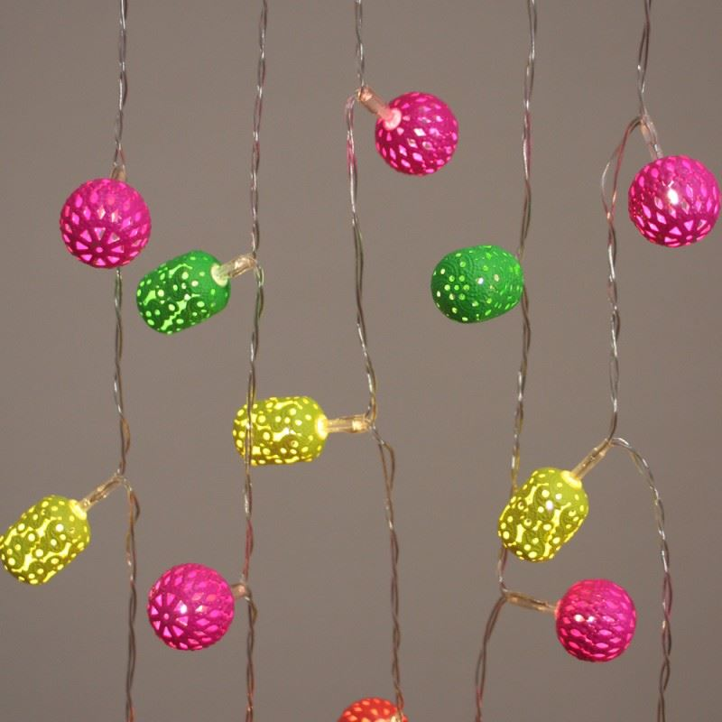 Neon Maroq - 20 LED Indoor String Light Chain - Battery Powered