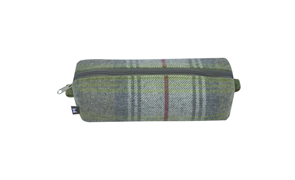 Earth Squared - Pencil/Make Up Brush Case - Tweed Wool - Pebble - 18x6x6cms