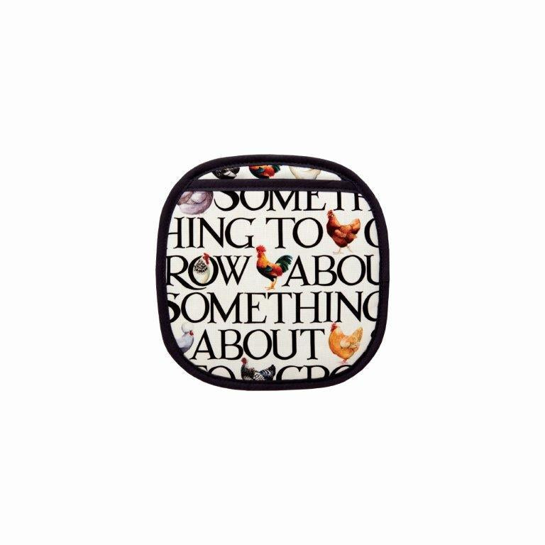 Emma Bridgewater - 100% Cotton - Pot Grab/Mitt - 22 x 22cms - Rise & Shine/Hen & Toast