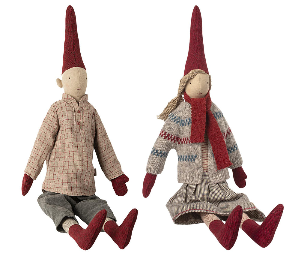 Maileg - Danish Nisse Pixy 2020 (0431) - Medium 50cms - Available in Boy or Girl