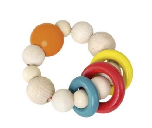 Ring Rattle - Wooden Baby Toy - me by Selecta