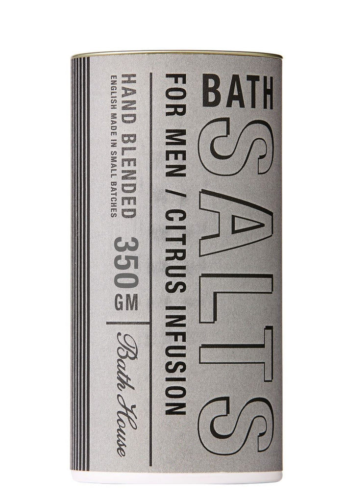 Bath House - Men's Citrus Collection - Hand Blended Bath Salts w/Citrus Infusion 350g
