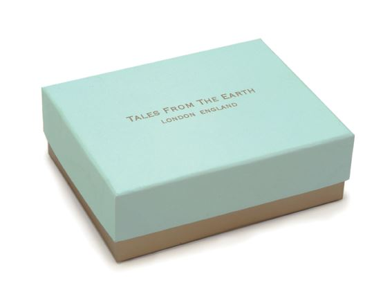 Message Bangle - A Lifetime of Luck - Rhodium Plated - Tales From The Earth - Presented In Pale Blue Gift Box