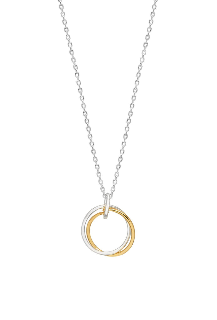Interlinked Rings Necklace - Gold & Silver Plated - Believe In Yourself - Estella Bartlett
