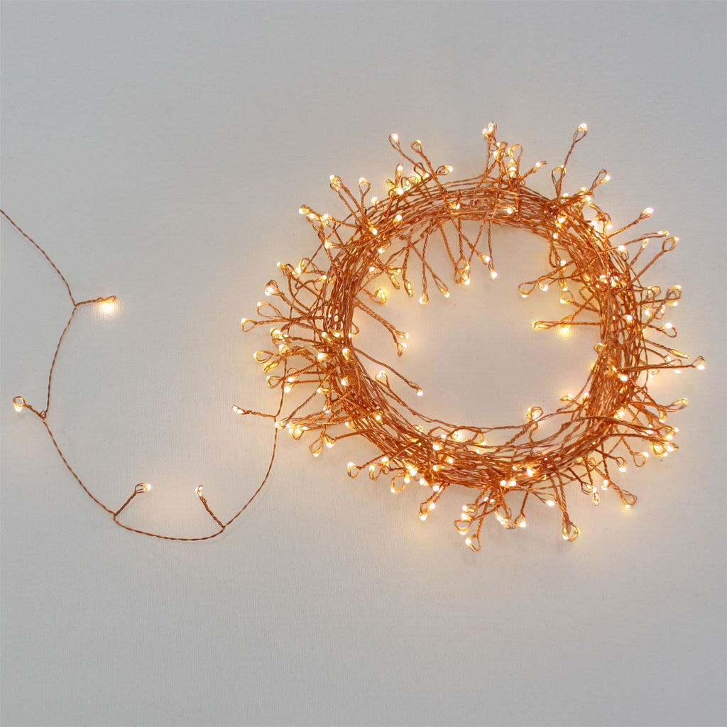 Copper Cluster - 150 LED Indoor/Outdoor Light Chain 7.5m - Mains Powered