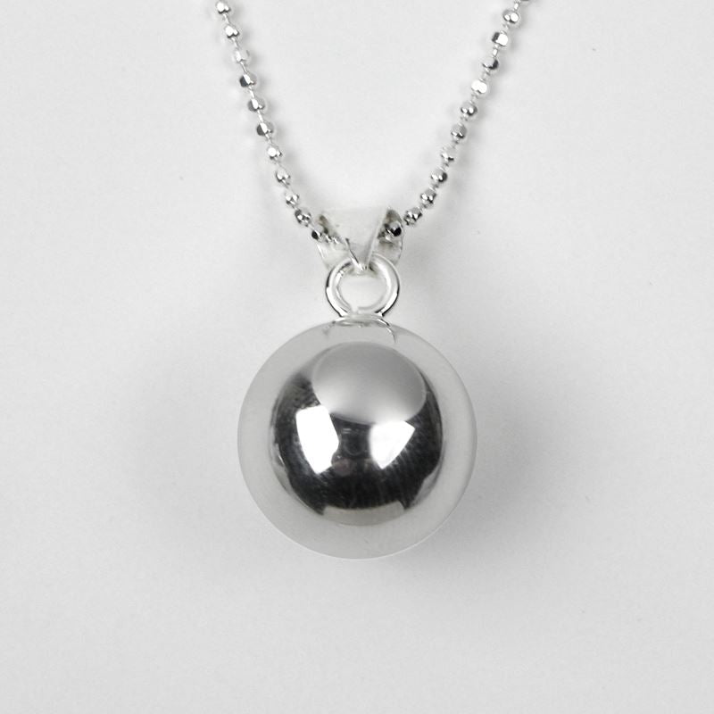 Silver Plated - Little Girl's Chiming Ball Necklace - Tales From The Earth - Presented In Pale Blue Gift Box - Perfect Christening/Naming Day Gift