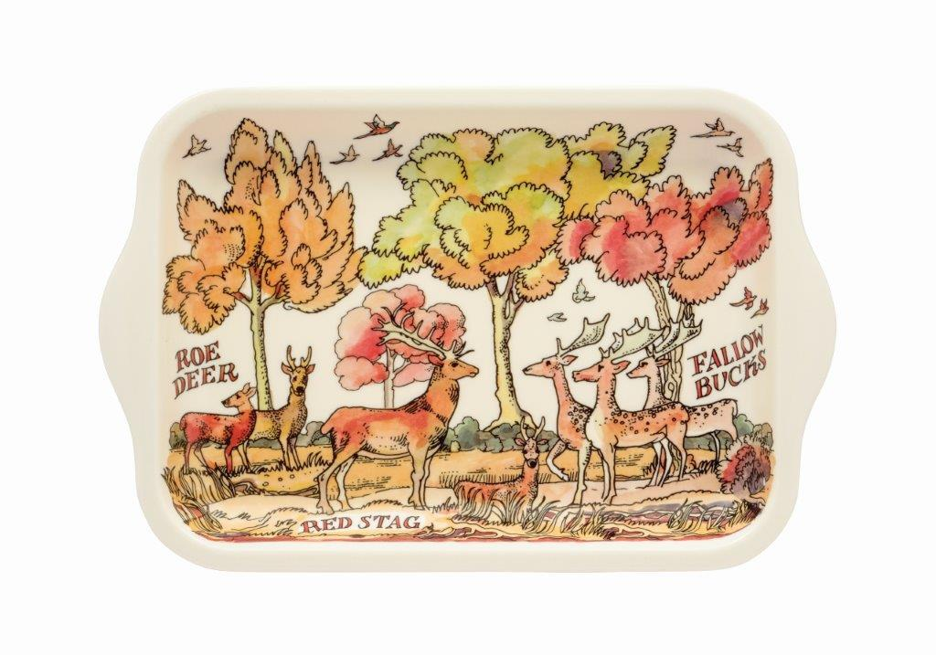 Emma Bridgewater - Small Melamine Rectangular Tray - 22 x 14.5cms - Deer In The Woods