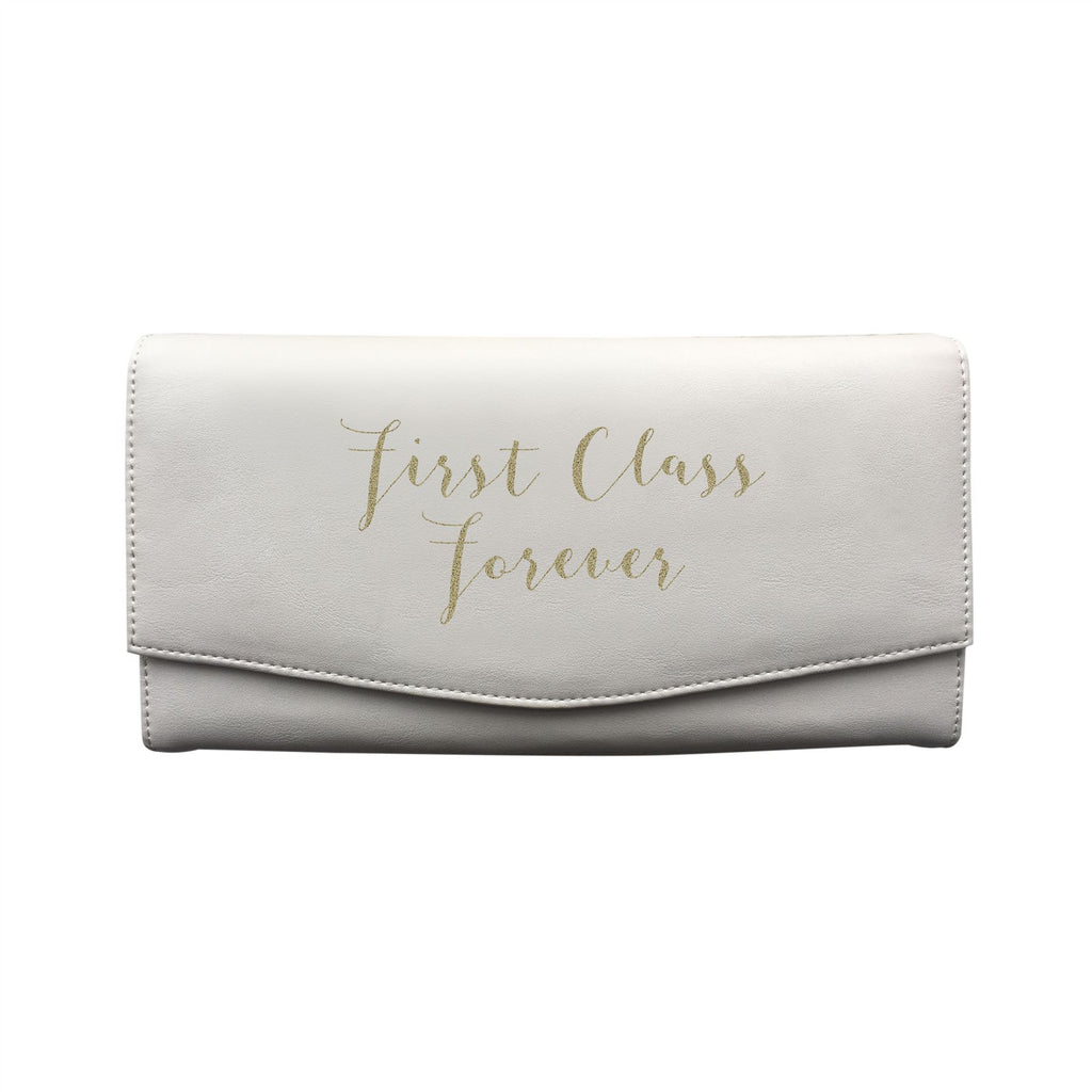 Bombay Duck - First Class Forever - Cream/Gold Travel Wallet - Printed Faux Leather