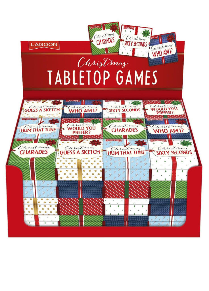 Lagoon - Christmas Tabletop Games - Sold Individually or Set of 6