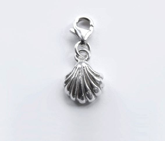 Sterling Silver Charm - Tales From The Earth - Shell - Presented In Pale Blue Gift Box