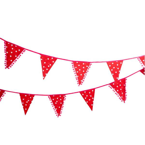 Happy Dots Cotton Bunting - 4.5m long - Engelpunt/Life's A Party