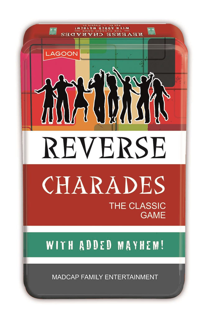 Reverse Charades - Classic Game With Added Mayhem In A Tin - Lagoon Group