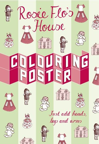 Rosie Flo's Colouring - Poster - House