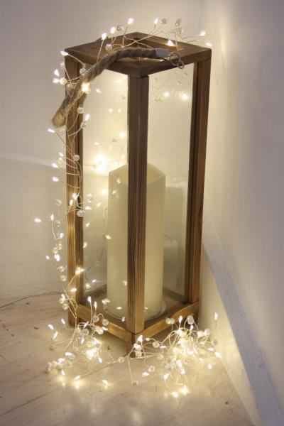 Pearl Cluster - 100 LED Indoor Light Chain With Built In Timer - Battery Powered