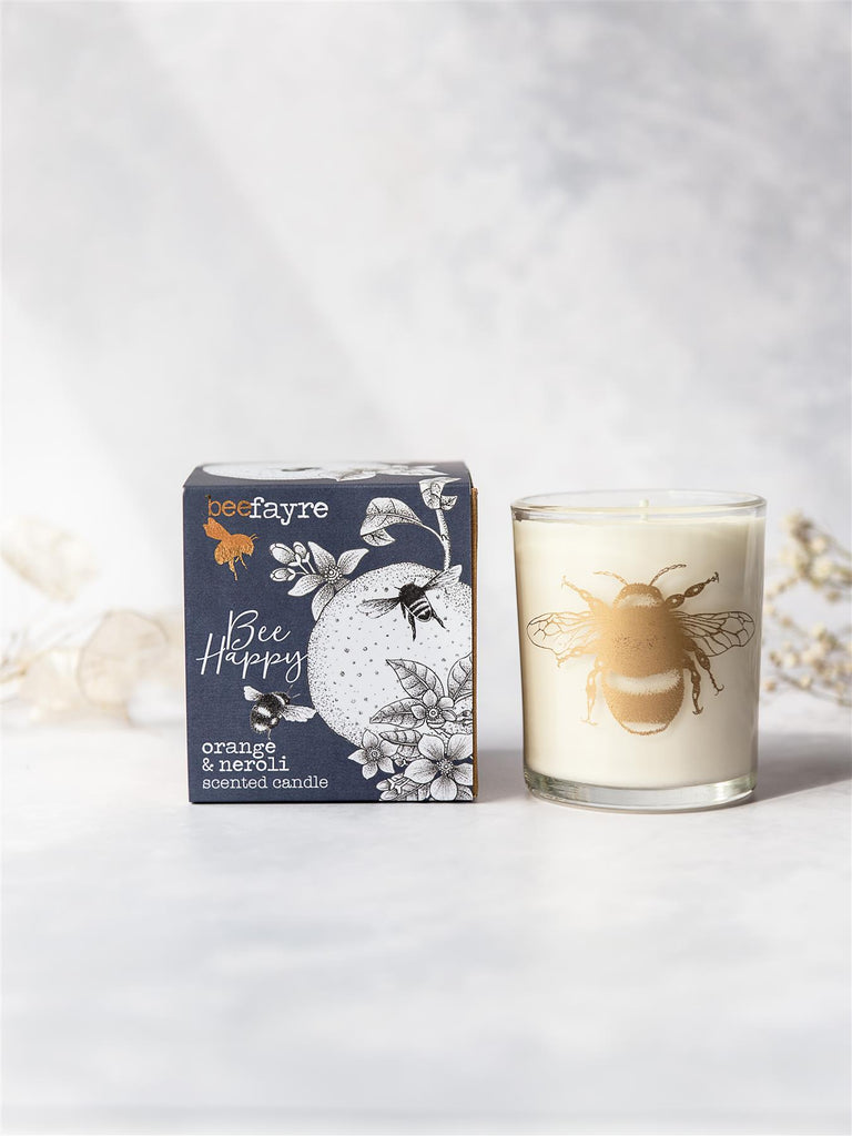 Beefayre - Bee Happy - Orange & Neroli - Scented Candle - 20cl/50hours