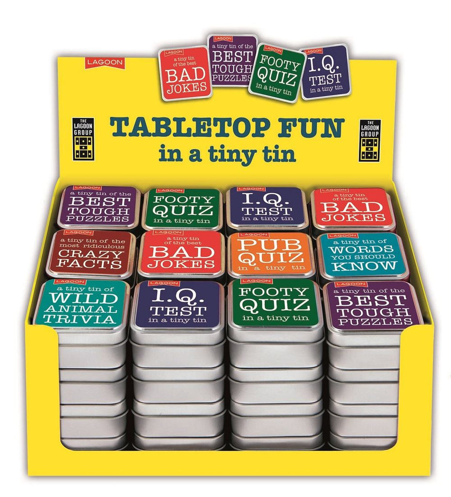Lagoon - Table Top Fun In A Tiny Tin - 8 Designs Available